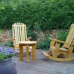 סט לגינה כסאות נדנדה