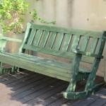 ספסל מתנדנד ירוק