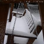 מושב נדנדה בשלג
