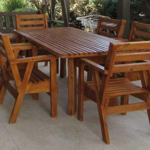 פינות ישיבה מעץ אורן מלא