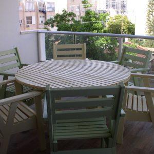 פינת ישיבה לגינה / מרפסת שולחן עגול