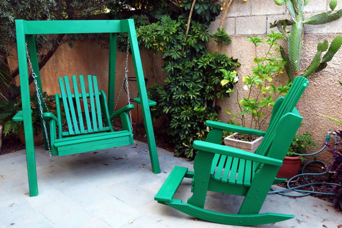כסא נדנדה ונדנדת יחיד דגם סאיי