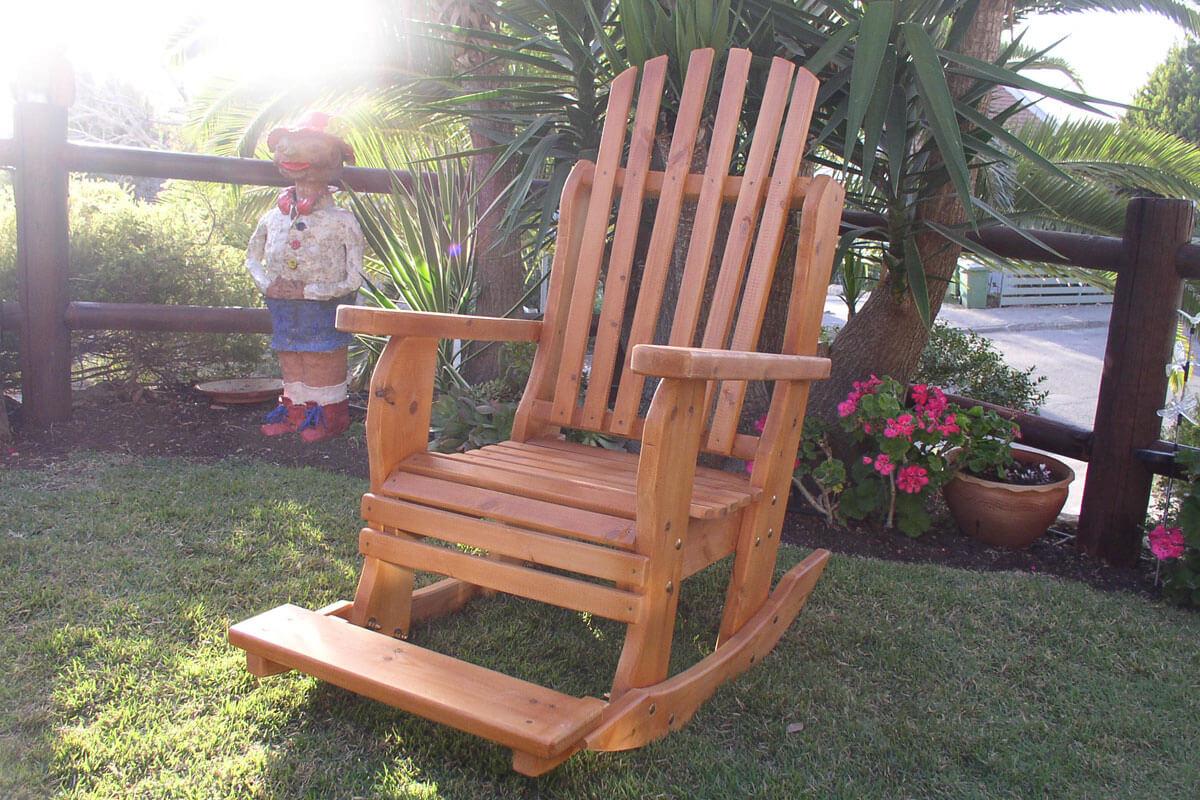 מעולה כסא נדנדה לגינה ולמרפסת BeLLo 83 | דרך העץ תוצרת כחול לבן נוחות שקטה AZ-29