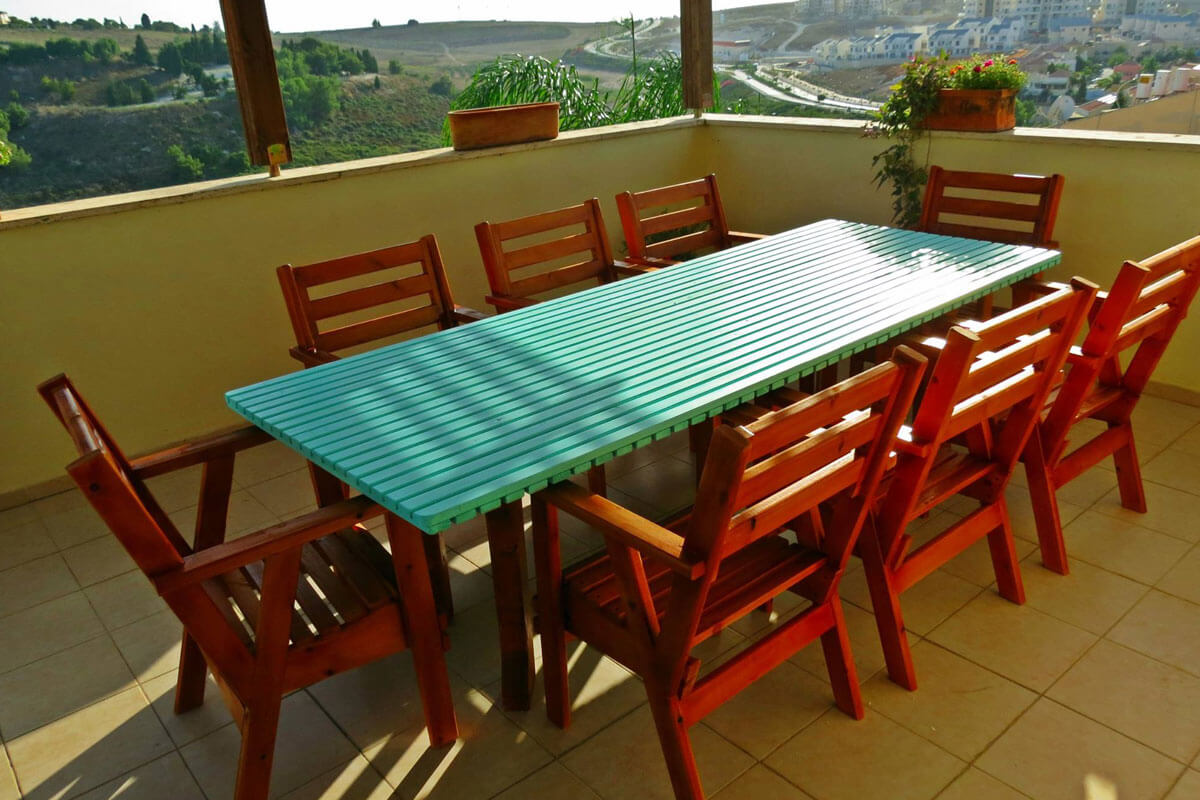פינת-ישיבה-מלבנית-מעץ