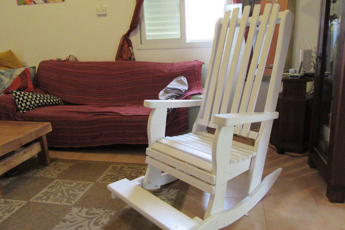 מפוארת כיסאות נדנדה לגינה ולמרפסת דגם BeLLo 91 | דרך העץ תוצרת כחול לבן NI-33